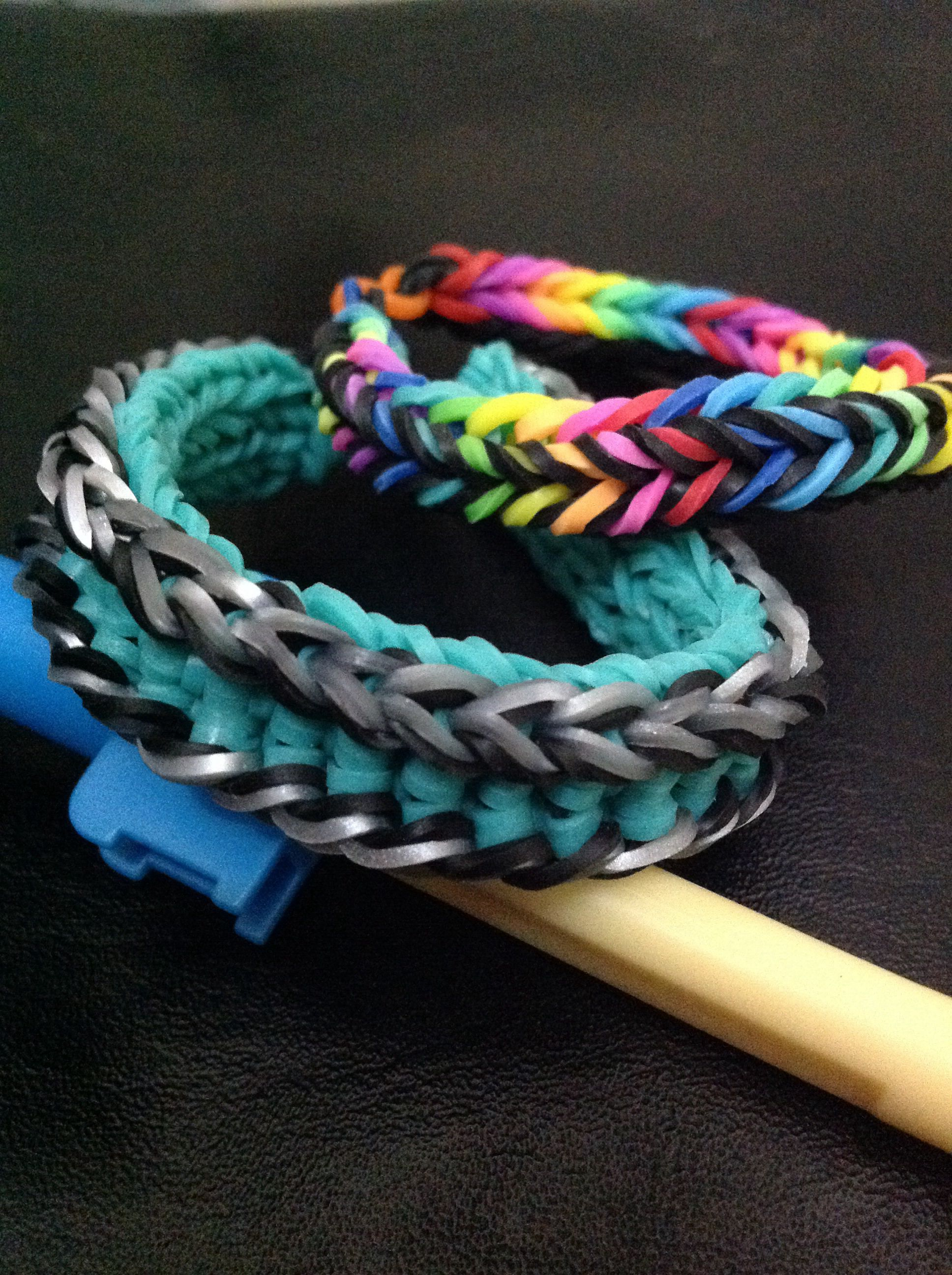 loch ness monster bracelet x dragon fishtail both done