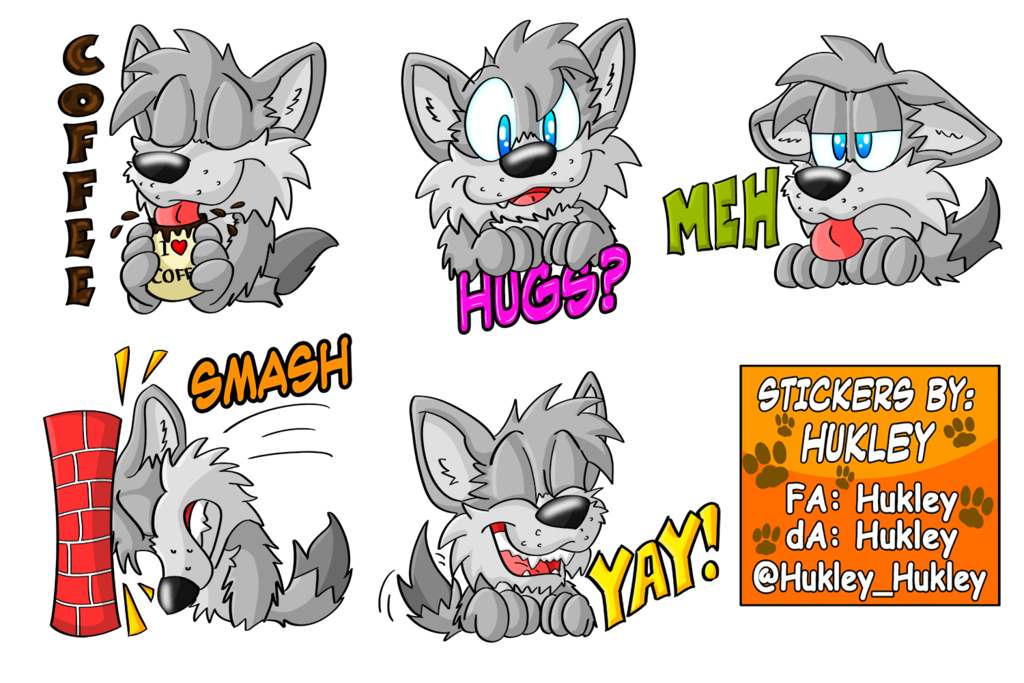 SwedishWolf sticker pack by Hukley | stickers in 2019 | Stickers