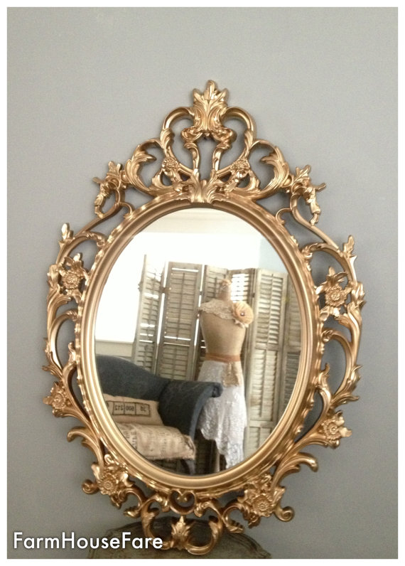 Ornate Mirrors Baroque Mirror Large Gold Wall Mirror Hollywood