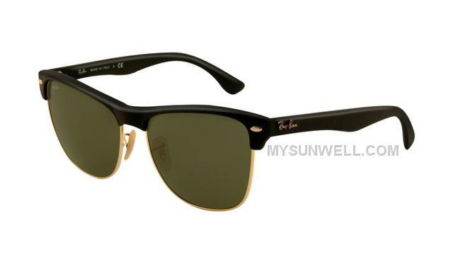 0384c43ba0 Ray Ban RB4175 Sunglasses Shiny Black Frame Green Lens New