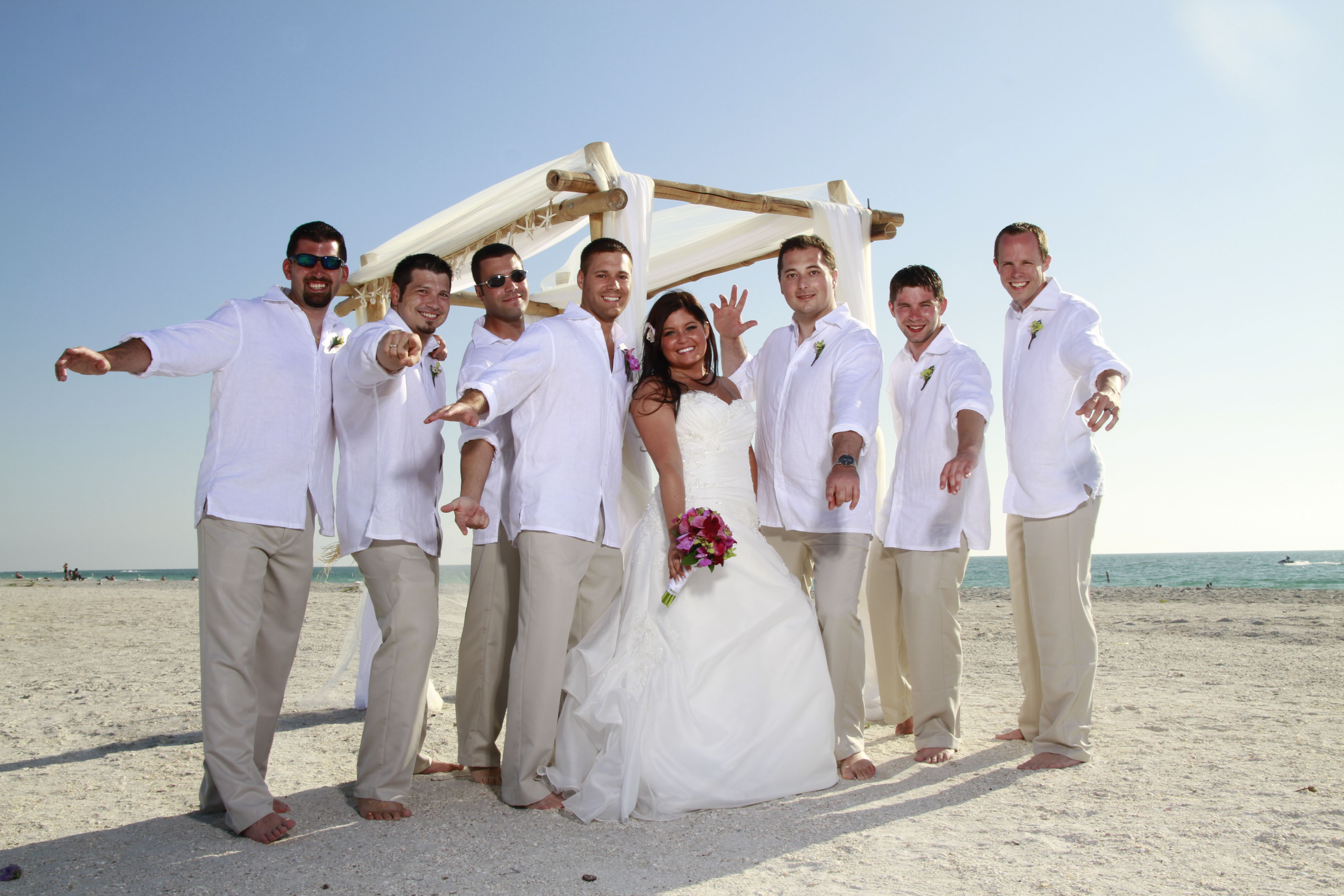 Tips and advice on beach wedding attire whether it is a formal ...
