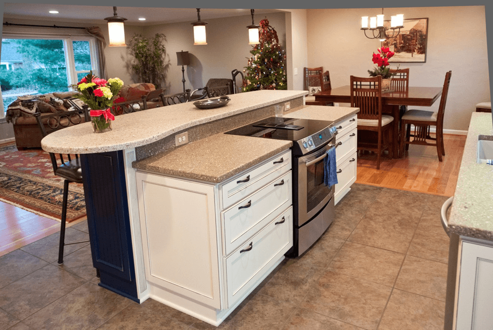 Kitchen island with stove and oven ranges | Kitchen ...