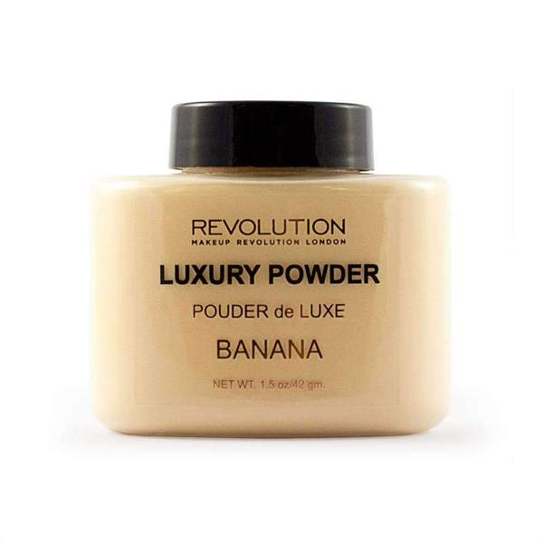 This powder has a hint of yellow to correct redness and