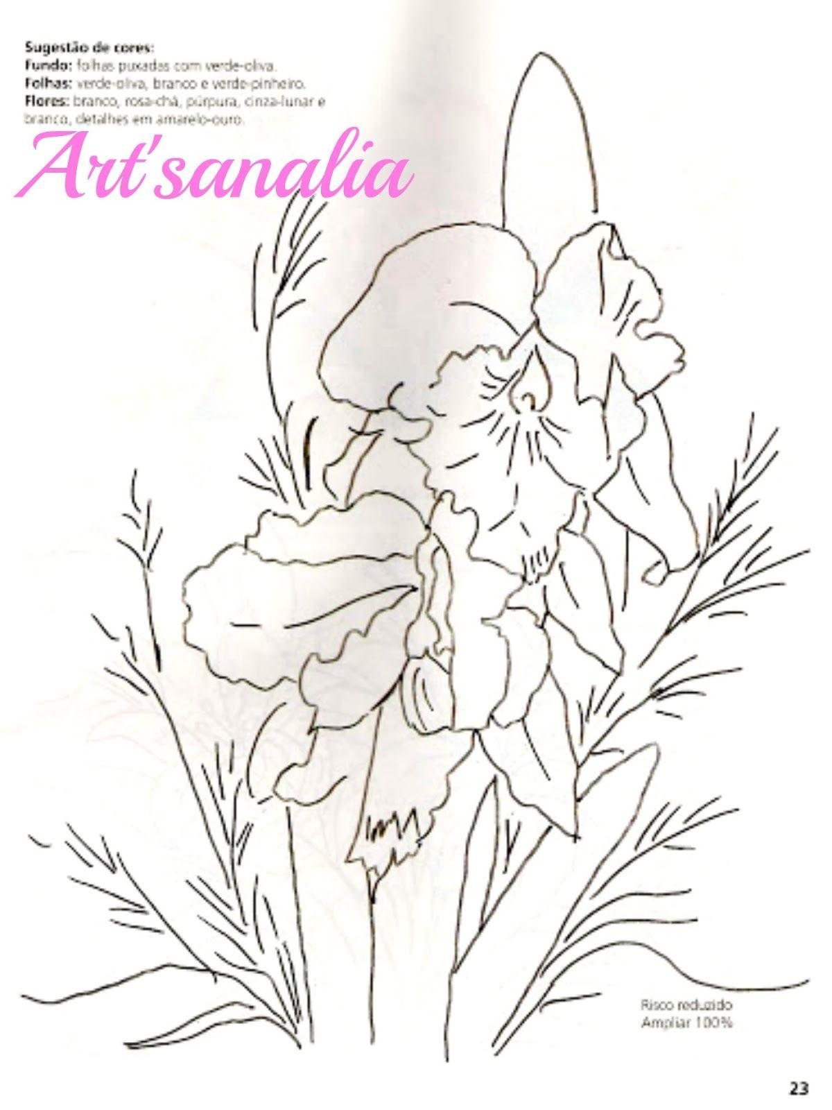 Art\'sanália: Riscos para pintar orquídeas! | RISCOS DE FLORES ...