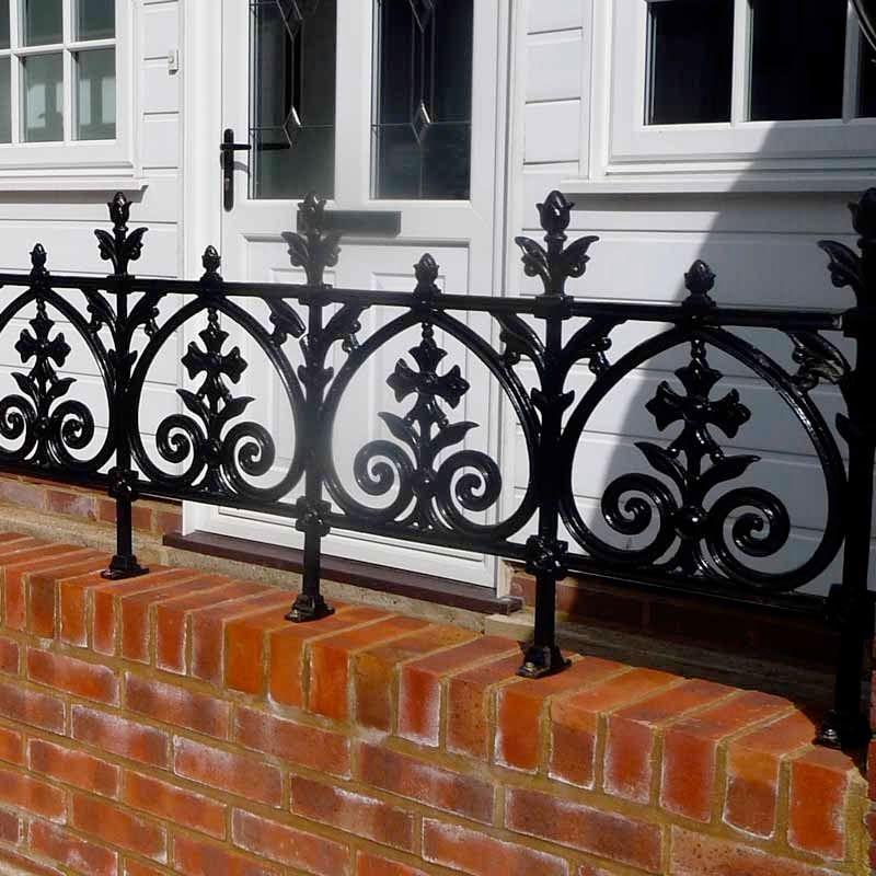 Cast Iron Pedestrian Gate | Balcony railing, Iron railing ...