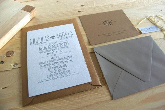 Full of rustic charm, this wonderful invitation is perfect for the outdoor wedding. Bold, yet elegant text is perfectly paired with the inviting baker's twine, for the rustic contemporary feel.