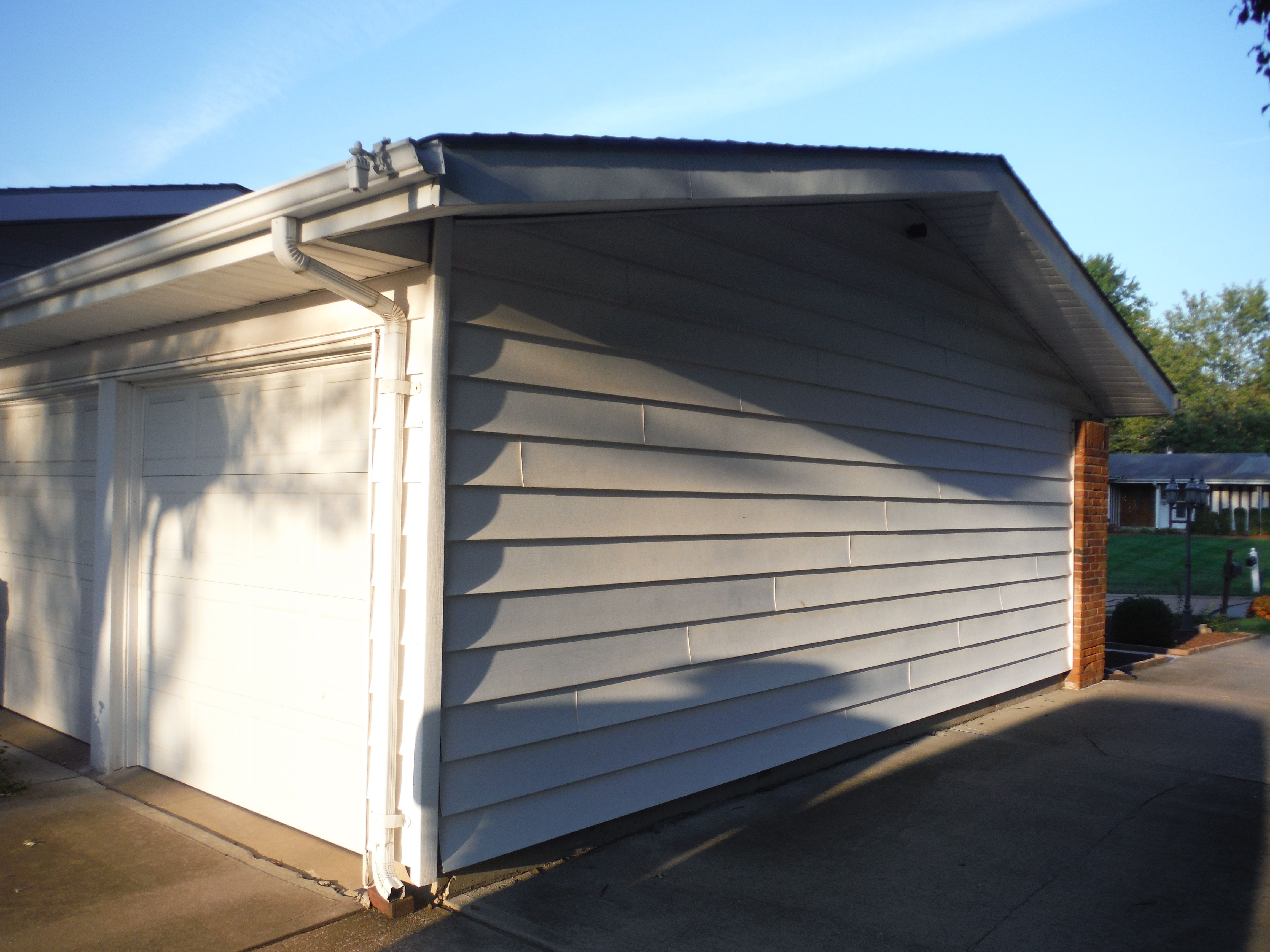 Before Picture Of The Old Siding Masonite Siding Hardie Siding Siding Repair
