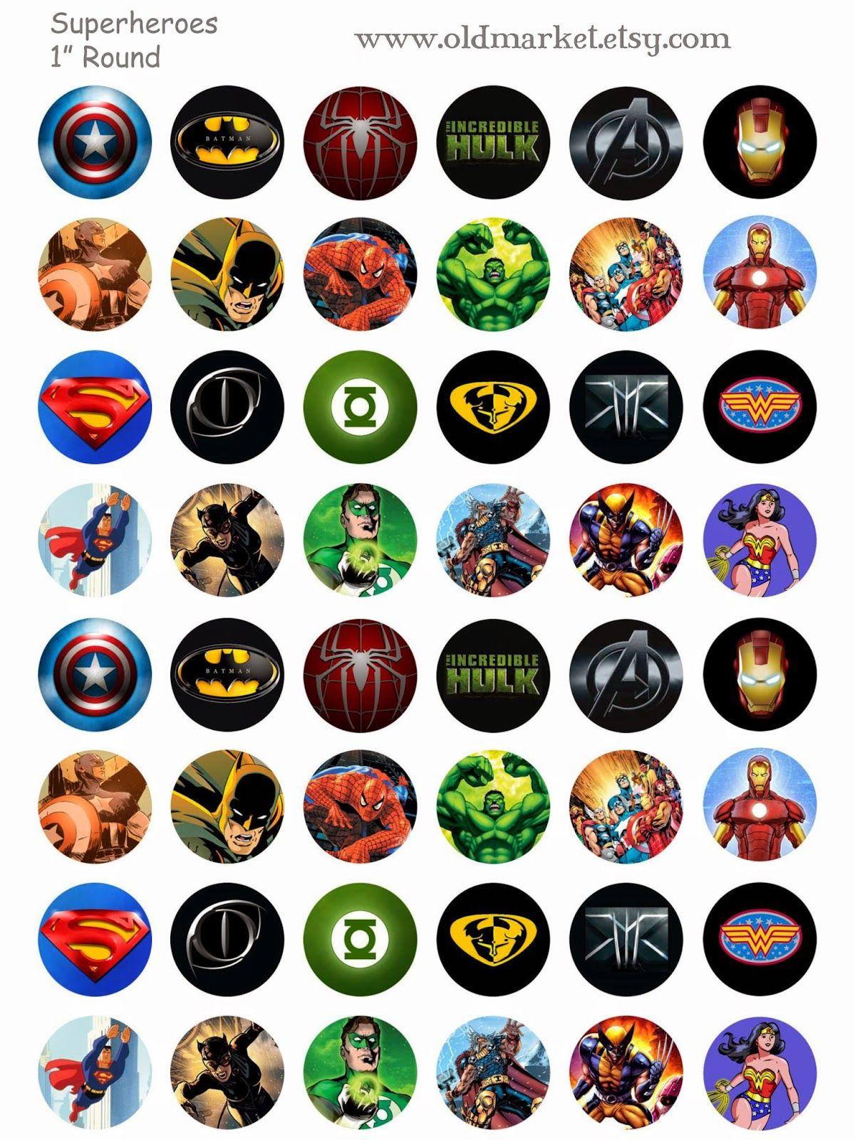 CUSTOM RECREATION MARVEL SUPER HERO avengers X-MEN MAGNET HANDMADE