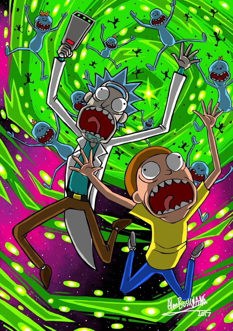 Rick And Morty By Glenbw Rick And Morty Poster Cartoon