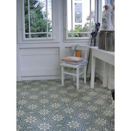 Zementmosaikplatte Im Original Aus Meckenbeuren Florales Muster - Fliesen mosaik rund
