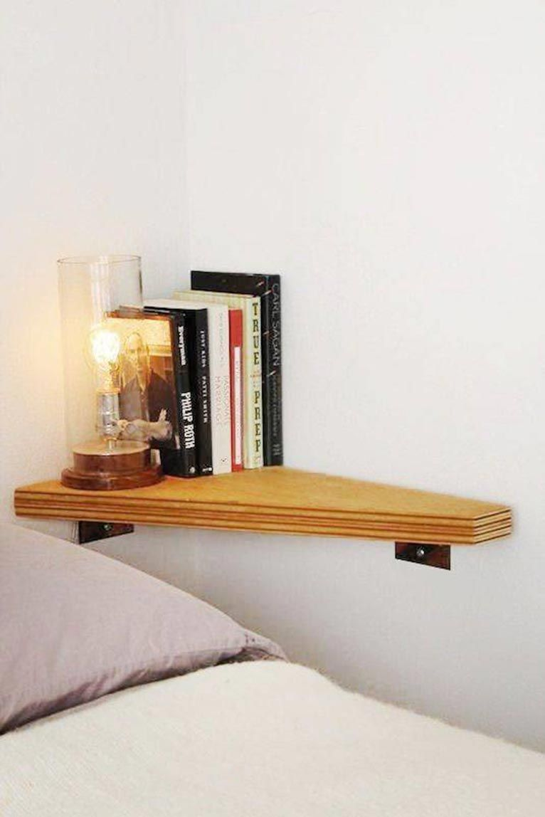 9 ideas para poner una mesita de noche en una habitaci n - Mesita noche pequena ...