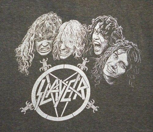 SLAYER Vintage Concert SHIRT 80's TOUR T Reign In Blood