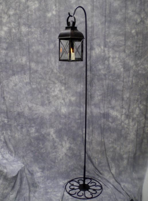 Hook Free Standing Lantern Makeasceneals 6 Tall Allows You To Hang Lanterns Indoors With This Base Brownish