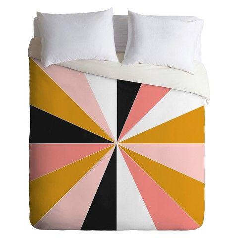 Deny Designs Caroline Okun Pinwheel Lightweight Duvet Cover Lightweight Duvet Covers Pink Duvet Cover Duvet Covers