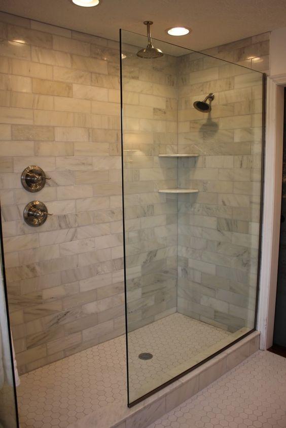 Bathroom. Incredible Doorless Walk In Shower Designs Ideas ...
