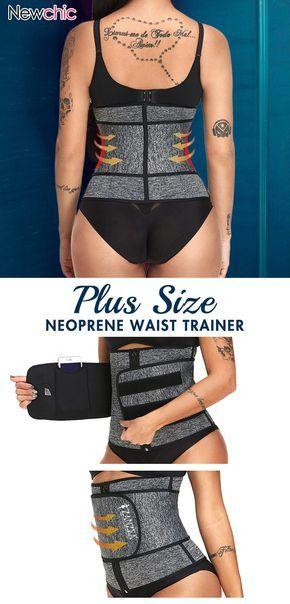 df30e7aa98 Plus Size Neoprene Tummy Control Sports Zipper Adjustable Waist Trainer  Steel Bones Slimming Sauna  shapewear  adjustable  waist  trainner
