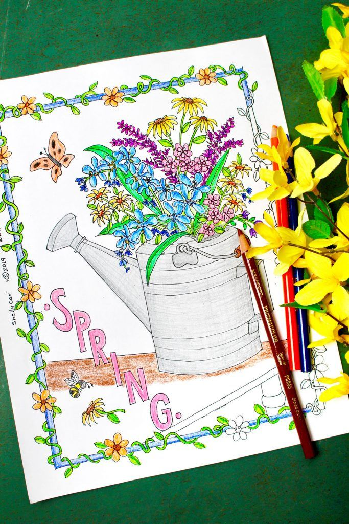 Beautiful Free Spring Flowers Coloring Page - Welcome To ...