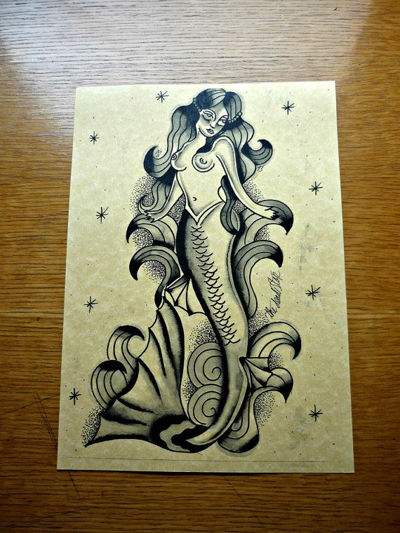 The Nightmare S Mermaid Traditional Tattoo Flash By Thedeadstop
