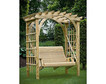Best Fifthroom Com S Treated Pine Palermo Arched Arbor Comes 400 x 300