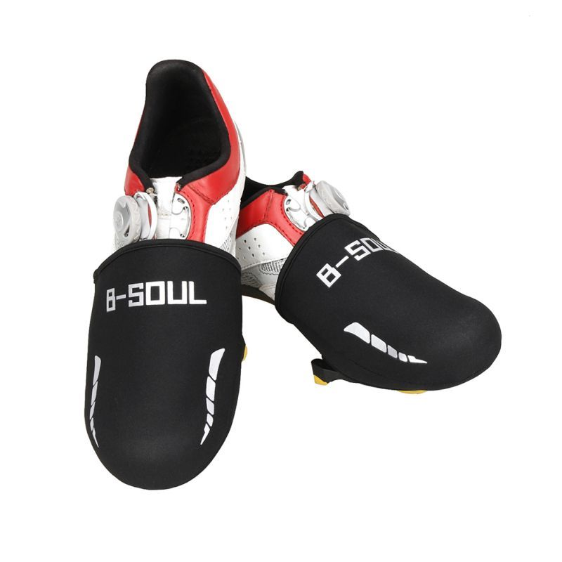 Hot Sale Black Windproof Warm Bicycle Shoe Covers Bike Cycling Sports Toe Cap Cover Overshoes Cycling Bicycle Shoe Covers Shoe Covers Overshoe