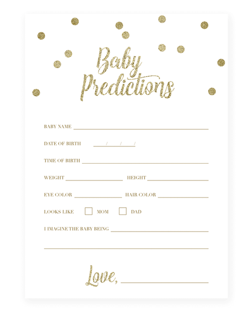 8 Popular Baby Shower Games Pack Gold in 2020 | Baby ...