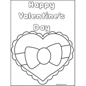 Valentine's Day Heart Coloring Page - Made By Teachers ...
