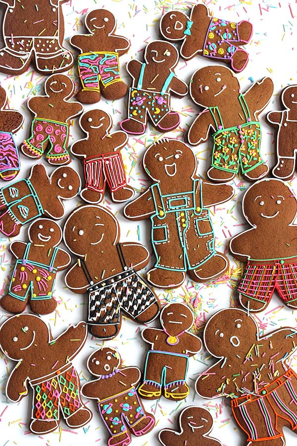Fancy Pants Gingerbread Cookies Oh Happy Day Gingerbread