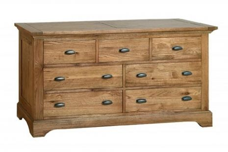 Toulouse Antique Oak 3 over 4  Chest of Drawers