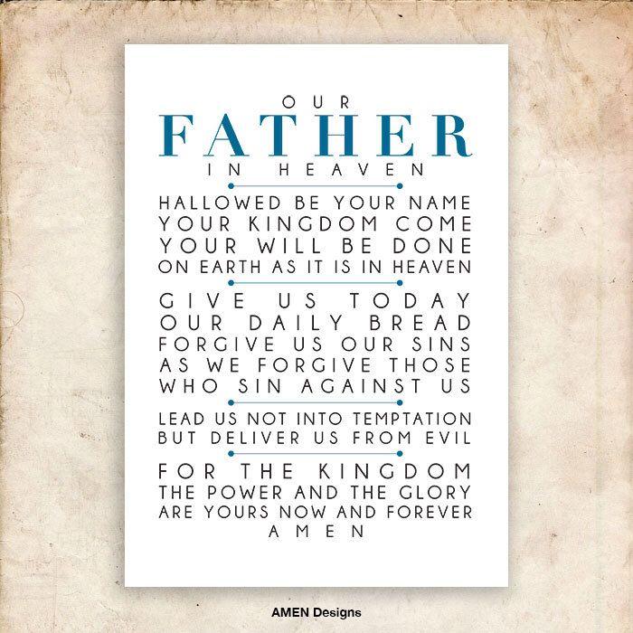 The Lord\'s Prayer. NIV. DIY. PDF. A3 for 11x14. Printable Scripture ...
