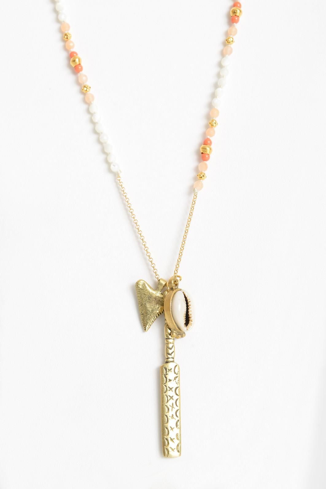 Chan Luu Shell Charm Necklace lc7fkHP