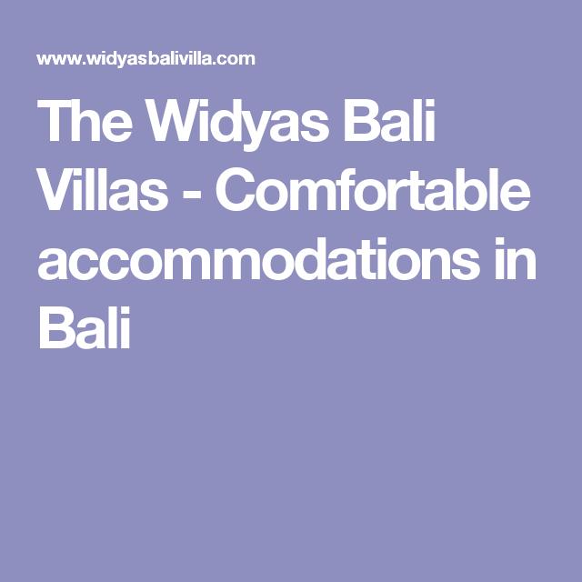 The Widyas Bali Villas - Comfortable accommodations in Bali