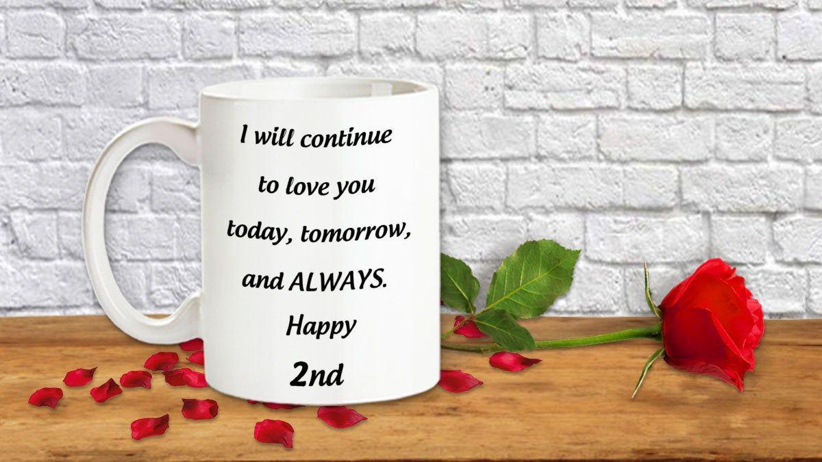 Second Wedding Anniversary Gift For Him And Her 2nd Anniversary Mug