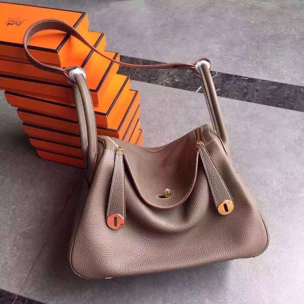 Hermes Lindy handbag have three size with gold and silver : 26cm,30cm and  34cm ae1451359a