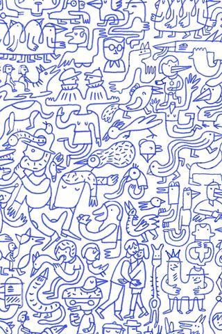poolga blue mural judy kaufmann ilustrations iphone 5poolga blue mural judy kaufmann
