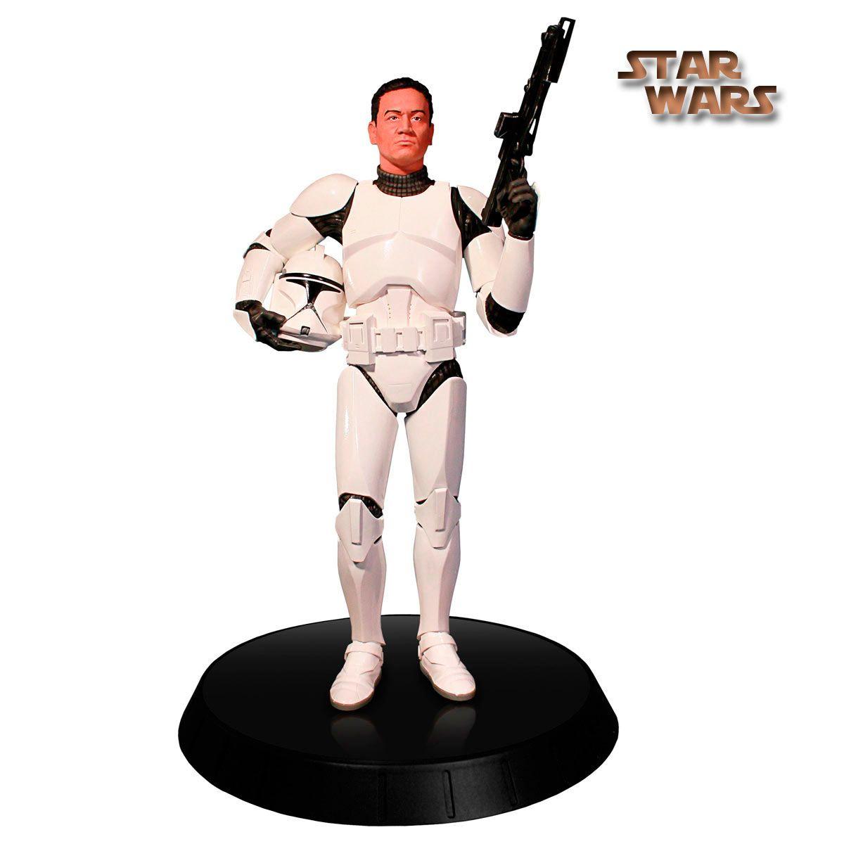 Estatua Star Wars, White Clone Trooper, deluxe 30cm, Gentle Giant Estatua de 30cm de altura, fabricada por Gentle Giant, del soldado Clone Trooper en una nueva versión deluxe.