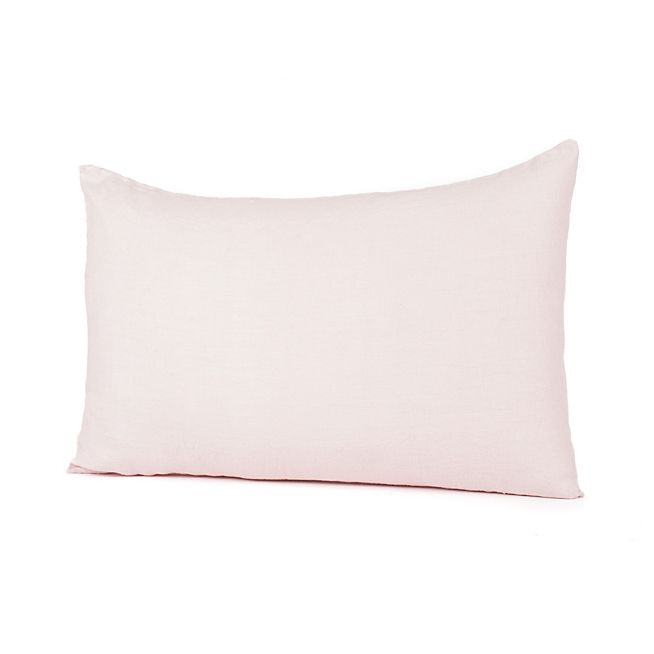 St Tropez Coussin En Lin Lave Coloris Rose Poudre 40x60cm