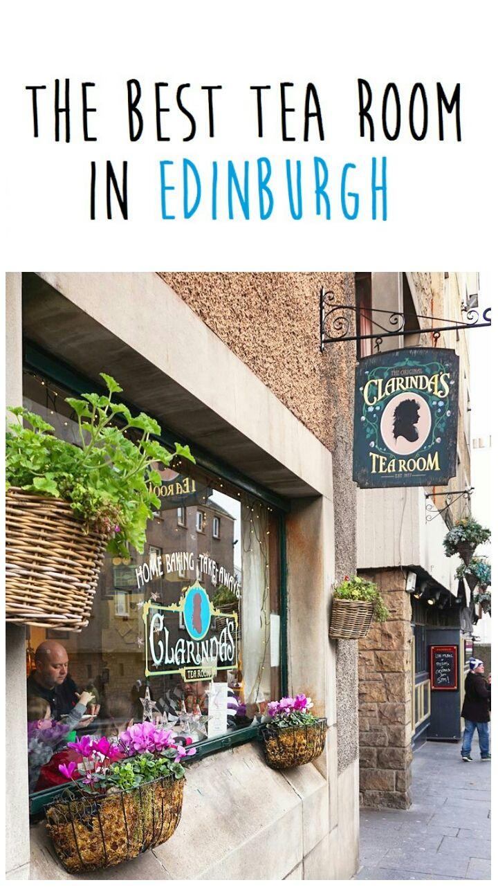 The best tea room in Edinburgh: Clarinda's Tea Room. I had the best scones, cakes and tea at this cozy tea room right near Holyrood Palace.