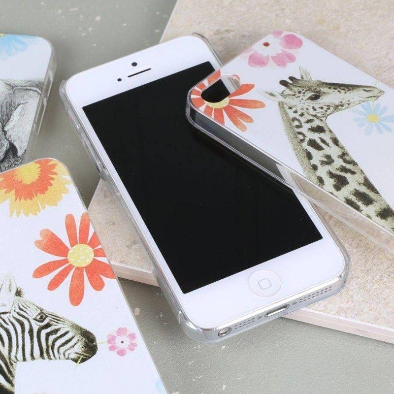 Colourful iphone 5 phone case with safari animal giraffe