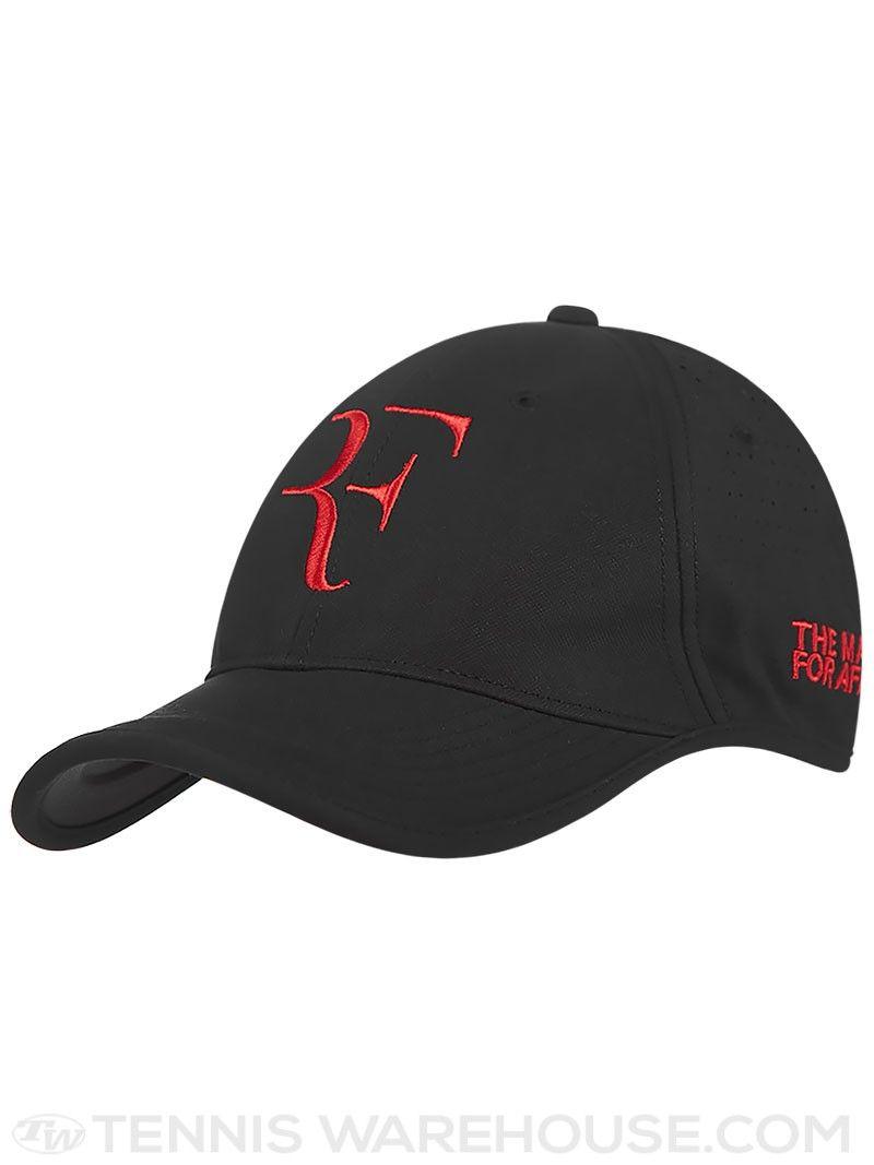 Roger Federer Match Africa Nike Hat - Black Men'