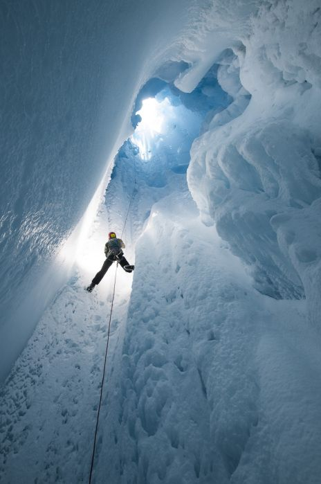 Glacier-Caving And Research In