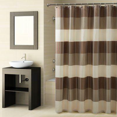 Croscill Fairfax Single Shower Curtain Wayfair In 2020 Striped Shower Curtains Fabric Shower Curtains Curtains