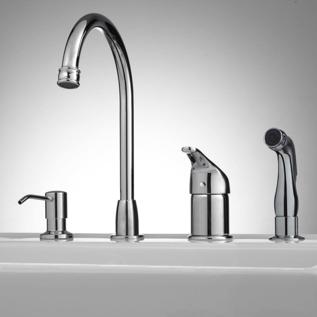 Kitchen faucet with sidespray and soap dispenser latulu