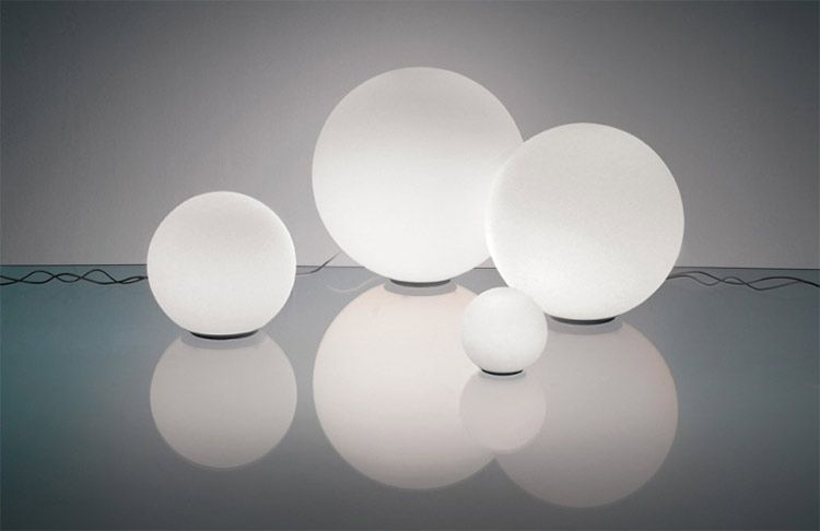 spherical lighting. Spherical Italian Table Lamps Designed By Michele De Lucchi In Acid Etched Blown Glass Lighting T