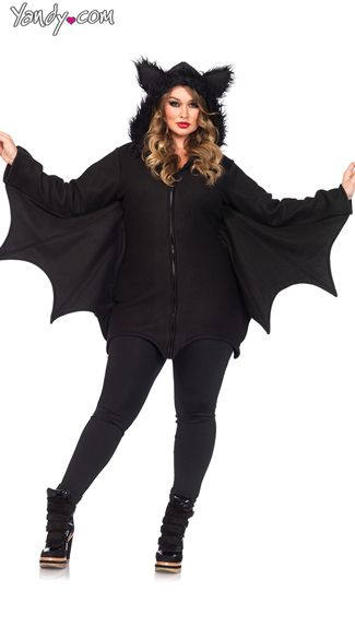 3bd6982edce Plus Size Fleece Bat Costume