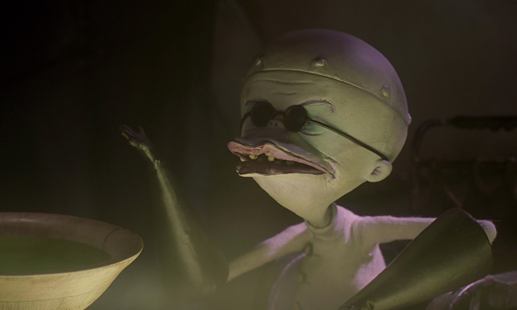 William Hickey as Dr. Finklestein in The Nightmare Before Christmas ...