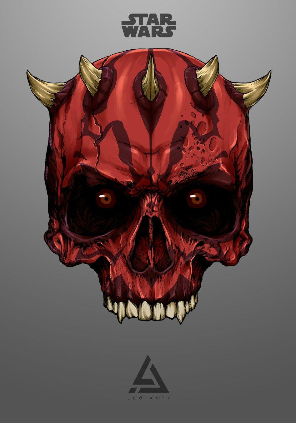 Darth Maul Skull Star Wars Art Drawings Star Wars Art Star Wars Background
