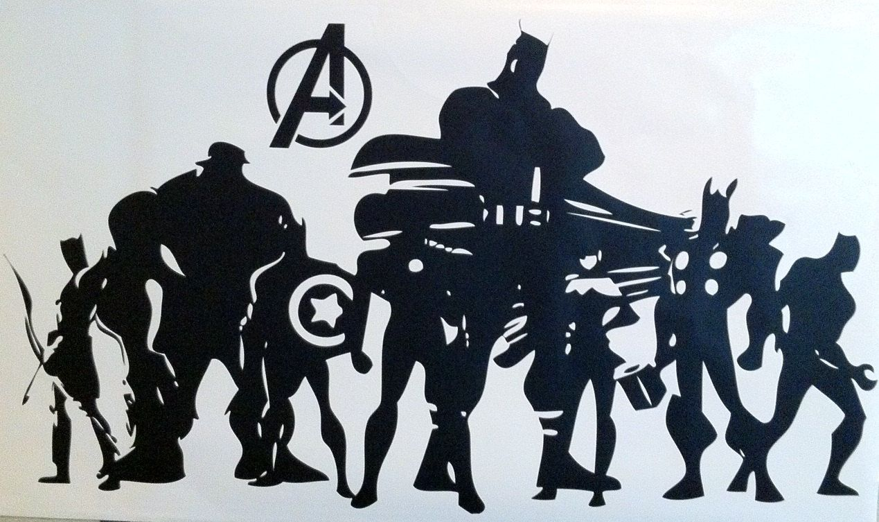 Wall DecalThe Avengers Silhouette. Avengers decals