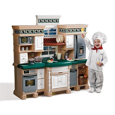 This Kitchen Set Is Really Cool There Are Places For Everything To Go And All The Normal Kitchen Appliances Play Kitchen Sets Kids Play Kitchen Play Kitchen