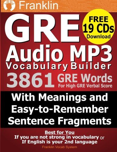 Download free Franklin GRE Audio MP3 Vocabulary Builder: Download 19 CDs with 3861 GRE Words For High GRE Verbal Score… | Word list, Vocabulary ...