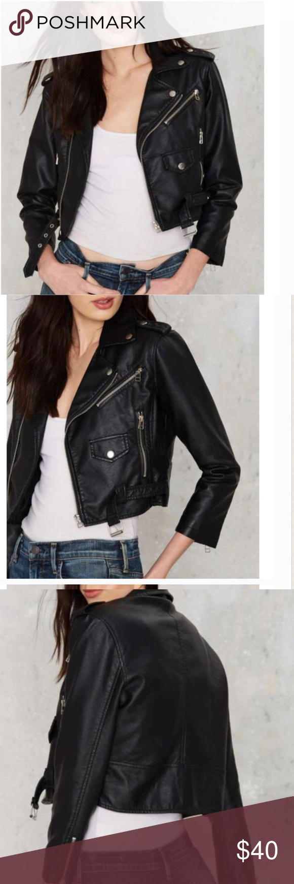 #880🦁🔵 Vegan jacket New with tags Nasty Gal Jackets & Coats